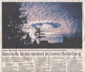JEFF KEIM SHARES HOLE PUNCH CLOUD PICS...ARE THESE SYLPHS HAVING FUN?